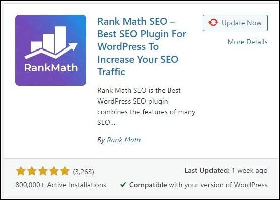 Rank Math: WordPress Plugin for SEO and Blog